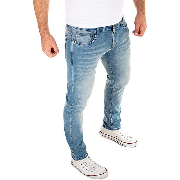 CrossHatch Herren klassisch gerades Bein Regular Fit Stylisch Jeans